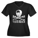 Vans Beach Pirate Women's Plus Size V-Neck Dark T-