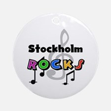 Stockholm Rocks Ornament (Round)
