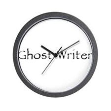 Ghost Writer Wall Clock