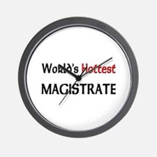 World's Hottest Magistrate Wall Clock