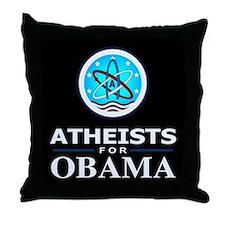 Atheists for OBAMA Throw Pillow
