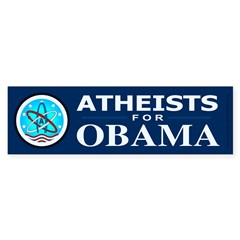 Atheists for OBAMA Bumper Sticker (50 pk)