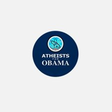 Atheists for OBAMA Mini Button
