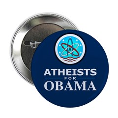 "Atheists for OBAMA 2.25"" Button"