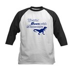 Gettin' Down With Dinosaurs Kids Baseball Jersey