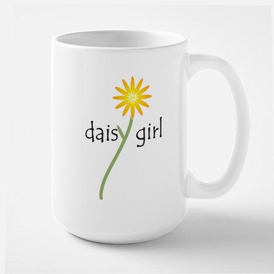 Yellow Daisy Girl Large Mug