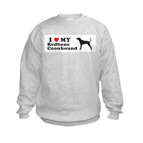 REDBONE COONHOUND Kids Sweatshirt
