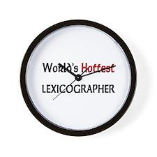 World's Hottest Lexicographer Wall Clock