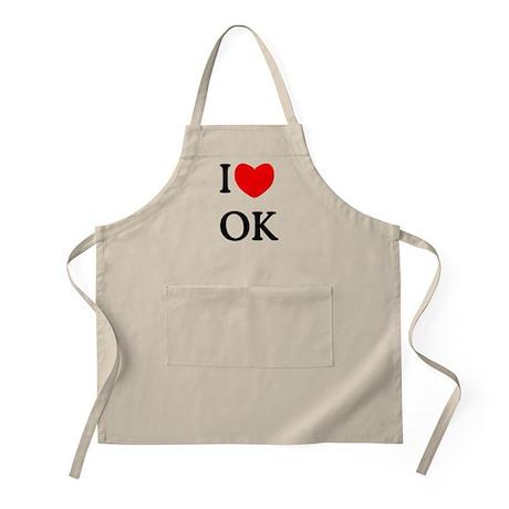 """""""I Love Oklahoma"""" BBQ Apron"""