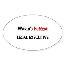 World's Hottest Legal Executive Oval Decal
