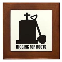 Digging For Roots Framed Tile