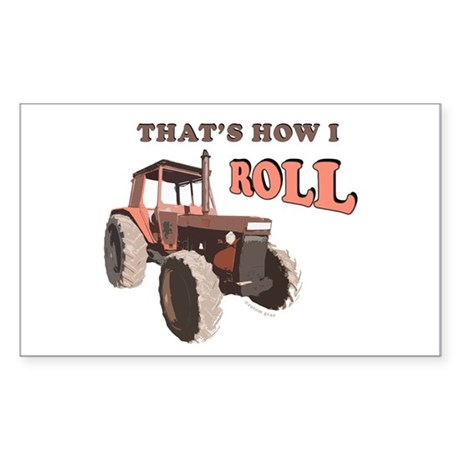 Farm Tractor Rectangle Sticker