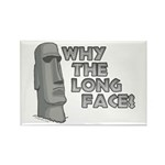 Why the Long Face? Rectangle Magnet (100 pack)