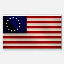 Old Glory Rectangle Decal