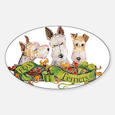 Fox Terrier Trio Decal