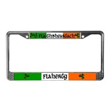 Flaherty in Irish & English License Plate Frame