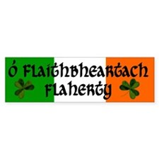 Flaherty in Irish & English Bumper Bumper Sticker