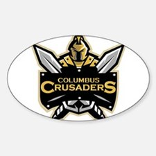 Columbus Crusaders Oval Decal