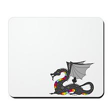 Angry Rainow Dragon Mousepad