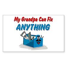 Fix Anything Grandpa Rectangle Bumper Stickers