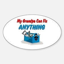 Fix Anything Grandpa Oval Decal