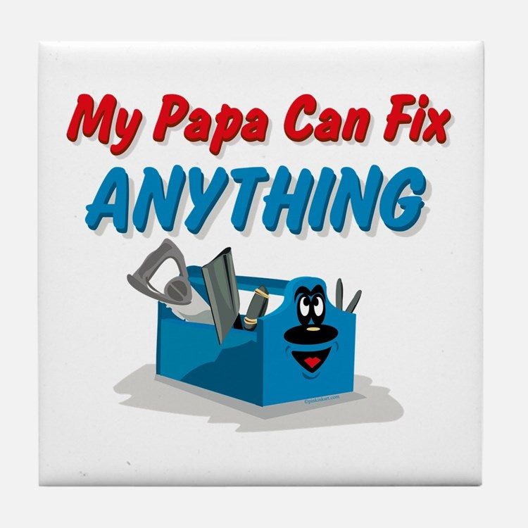 Fix Anything Papa Tile Coaster