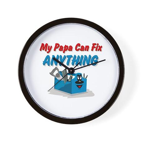 Fix Anything Papa Wall Clock by pinkinkart