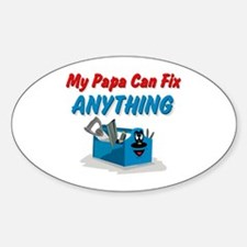 Fix Anything Papa Oval Decal