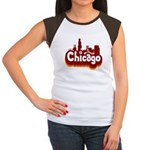 Retro Chicago Women's Cap Sleeve T-Shirt