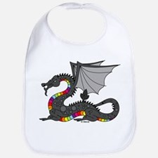 Angry Rainow Dragon Bib