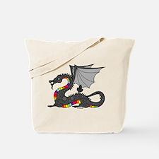 Angry Rainow Dragon Tote Bag