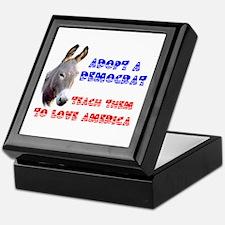 ADOPT A DEMOCRAT Keepsake Box