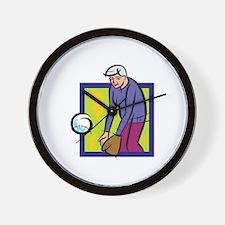 softball granny Wall Clock