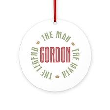 Gordon Man Myth Legend Ornament (Round)