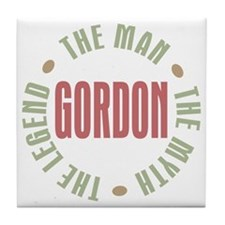 Gordon Man Myth Legend Tile Coaster