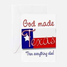 God made Texas Greeting Cards (Pk of 10)