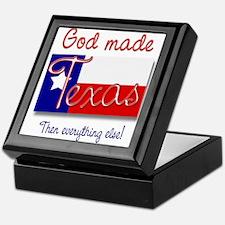 God made Texas Keepsake Box