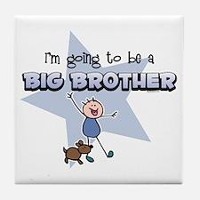 Stick Boy Future Big Brother Tile Coaster
