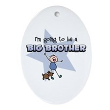 Stick Boy Future Big Brother Ornament (Oval)
