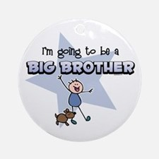 Stick Boy Future Big Brother Ornament (Round)