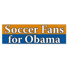 Soccer Fans for Obama bumper sticker