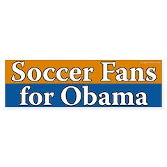 Soccer Fans for Obama bumper sticker