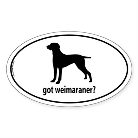 weimaraner coloring pages - got weimaraner oval decal by dogwire