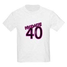 Dad's 40th Birthday Cards & Gifts T-Shirt