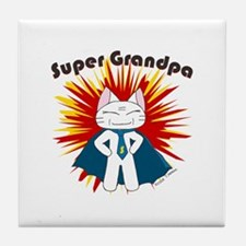 Super Grandpa Tile Coaster