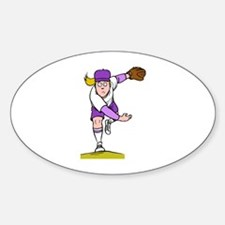 Throw! Oval Decal