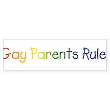 Gay Parents Rule! Bumper Bumper Sticker