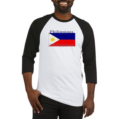 Philippines Filipino Flag Baseball Jersey