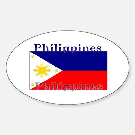 Philippines Filipino Flag Oval Decal