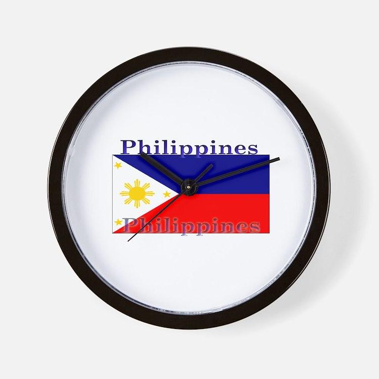 Philippines Filipino Flag Wall Clock